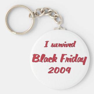 Survivied las compras negras 2009 de viernes llavero redondo tipo pin