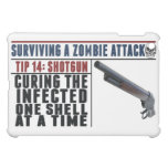 """SURVIVING A ZOMBIE ATTACK: 14 SHOTGUNS"" iPad case"