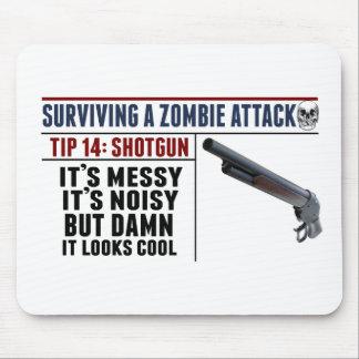sURVIVING A ZOMBIE ATTACK; SHOTGUN Mouse Pad