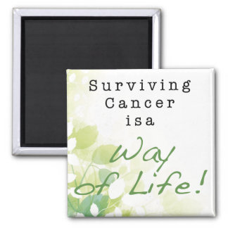Surviving Cancer is a Way of Life: STRONGER THAN C 2 Inch Square Magnet