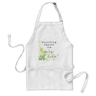 Surviving Cancer is a Way of Life: STRONGER THAN C Adult Apron