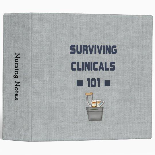 Surviving Clinicals 101 Funny Nursing Student Binder Zazzle