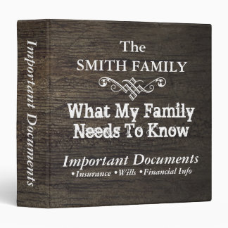 Surviving Family Documents•Custom 3 Ring Binder