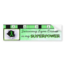 Surviving Lyme Disease Superpower Bumper Sticker