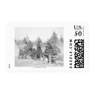 Surviving Members of Big Foot's Band Postage