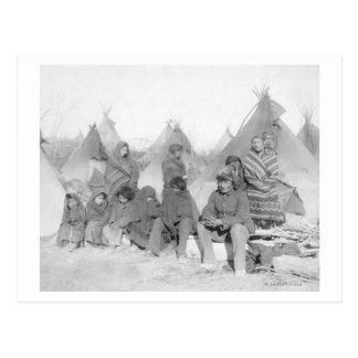 Surviving Members of Big Foot's Band Postcard