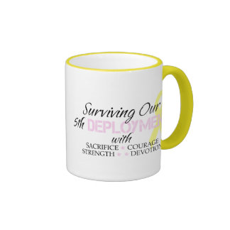 Surviving Our 5th Deployment Ringer Mug