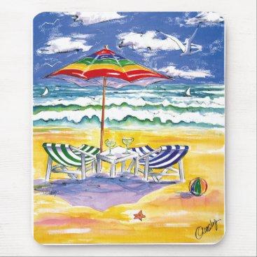 Beach Themed Surviving-Stress mousepad