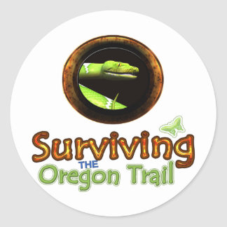 Surviving the Oregon Trail Classic Round Sticker