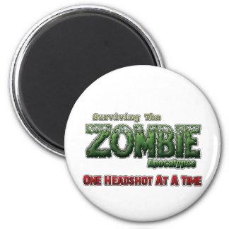 Surviving The Zombie Apocalypse Magnet