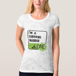 Surviving Warrior with LYME T-Shirt