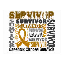 Survivor 10 Appendix Cancer Postcard