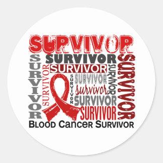 Survivor 10 Blood Cancer Sticker