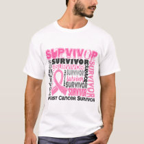 Survivor 10 Breast Cancer T-Shirt