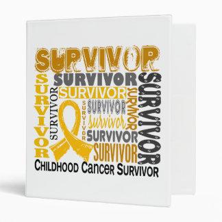 Survivor 10 Childhood Cancer Binder