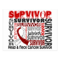Survivor 10 Head Neck Cancer Postcard