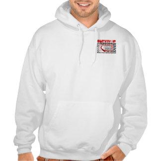 Survivor 10 Head Neck Cancer Hooded Sweatshirts