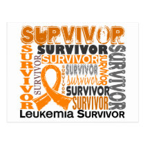Survivor 10 Leukemia Postcard