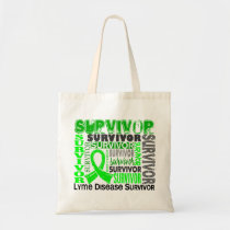 Survivor 10 Lyme Disease Tote Bag