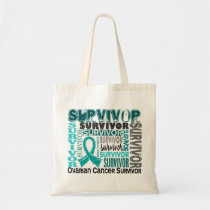 Survivor 10 Ovarian Cancer Tote Bag