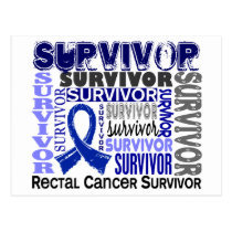 Survivor 10 Rectal Cancer Postcard