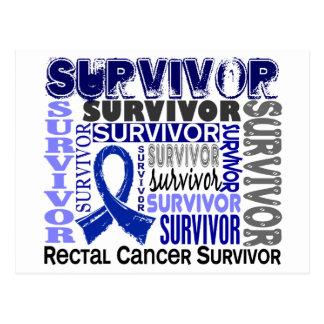 Survivor 10 Rectal Cancer Postcard