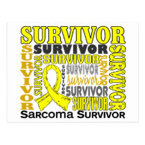 Survivor 10 Sarcoma Postcard