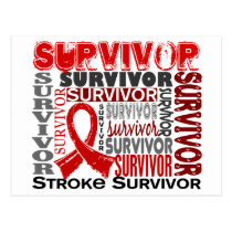 Survivor 10 Stroke Postcard