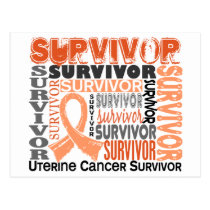 Survivor 10 Uterine Cancer Postcard