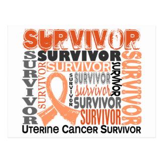 Survivor 10 Uterine Cancer Postcard