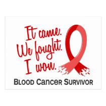 Survivor 11 Blood Cancer Postcard