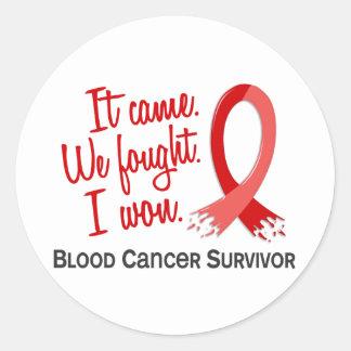 Survivor 11 Blood Cancer Round Stickers