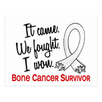 Survivor 11 Bone Cancer Postcard