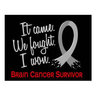 Survivor 11 Brain Cancer Postcard