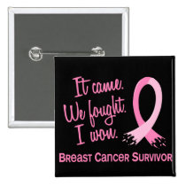 Survivor 11 Breast Cancer Pinback Button