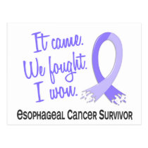 Survivor 11 Esophageal Cancer Postcard