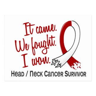 Survivor 11 Head And Neck Cancer Postcard
