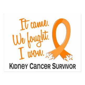 Survivor 11 Kidney Cancer Postcard