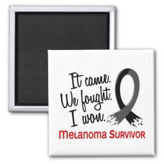 Survivor 11 Melanoma 2 Inch Square Magnet