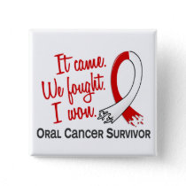 Survivor 11 Oral Cancer Button