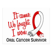 Survivor 11 Oral Cancer Postcard
