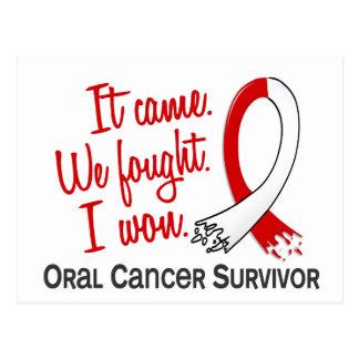 Survivor 11 Oral Cancer Postcard