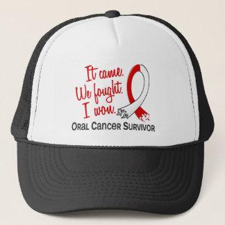 Survivor 11 Oral Cancer Trucker Hat