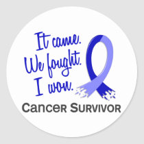 Survivor 11 Rectal Cancer Classic Round Sticker