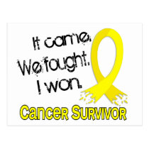 Survivor 11 Testicular Cancer Postcard
