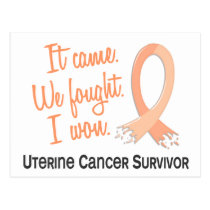 Survivor 11 Uterine Cancer Postcard