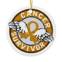 Survivor 14 Appendix Cancer Ceramic Ornament