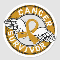 Survivor 14 Appendix Cancer Classic Round Sticker