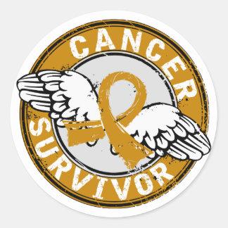 Survivor 14 Appendix Cancer Classic Round Sticker