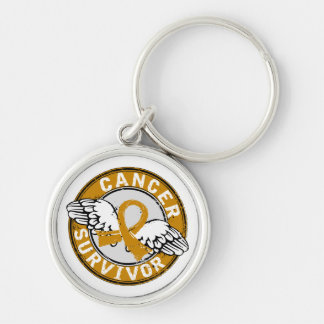 Survivor 14 Appendix Cancer Keychain